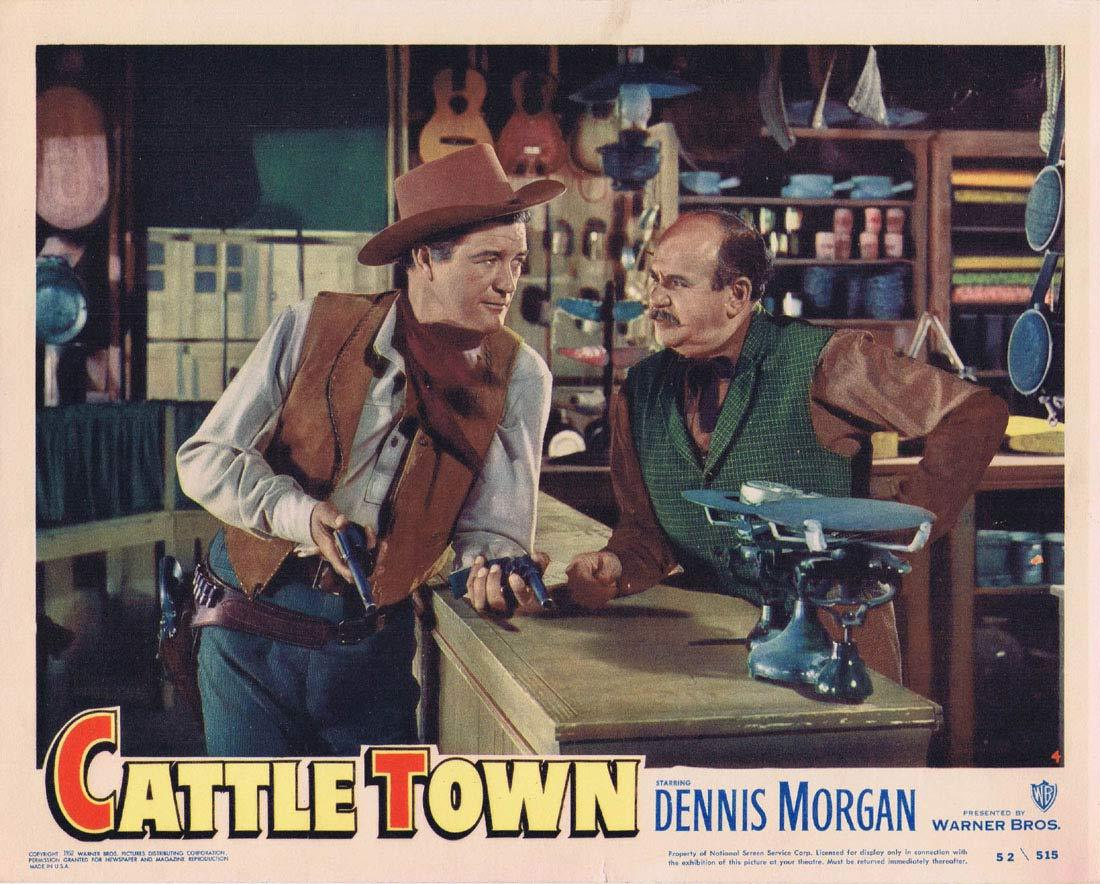 CATTLE TOWN Original Lobby Card 4 Dennis Morgan Philip Carey Amanda Blake