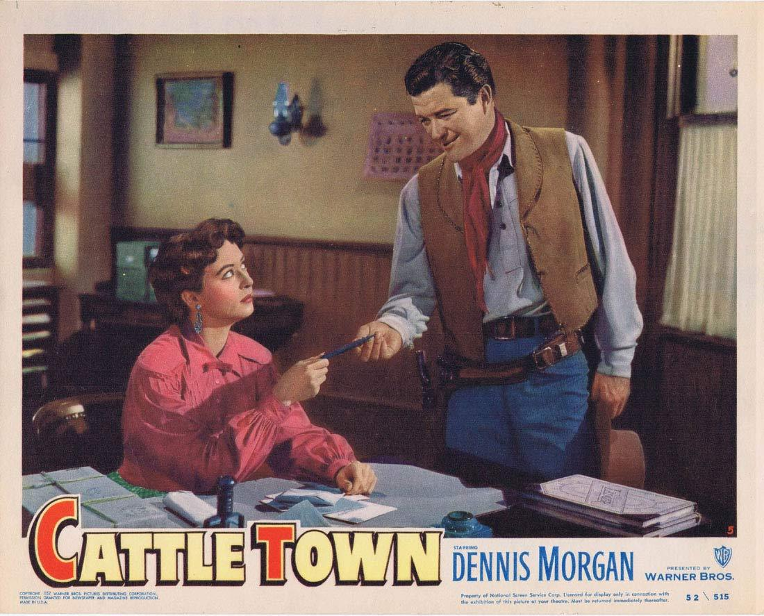 CATTLE TOWN Original Lobby Card 5 Dennis Morgan Philip Carey Amanda Blake