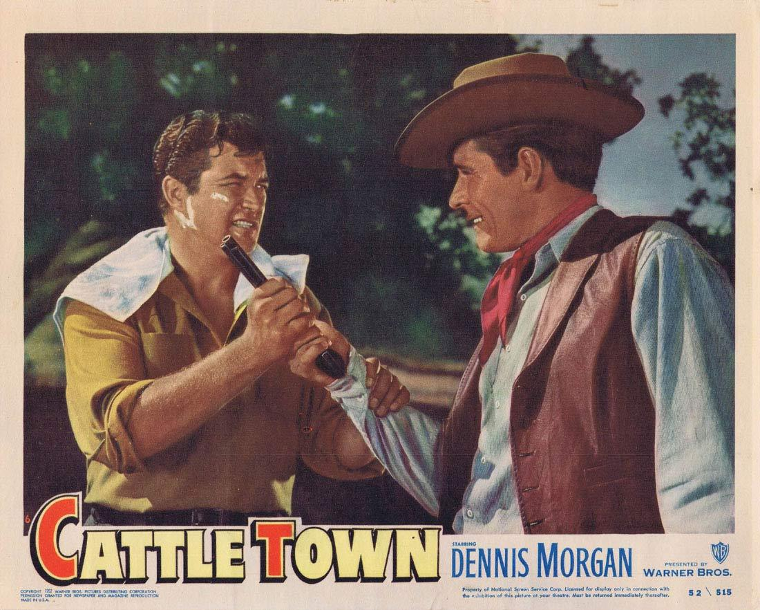 CATTLE TOWN Original Lobby Card 6 Dennis Morgan Philip Carey Amanda Blake