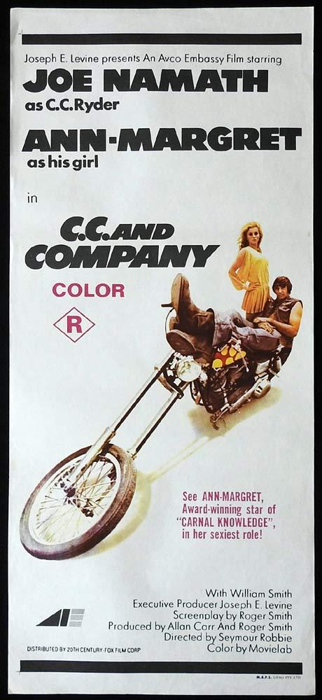 CC & COMPANY Original Daybill Movie Poster Ann-Margret Joe Namath