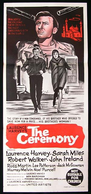 THE CEREMONY Daybill Movie poster 1963 Laurence Harvey