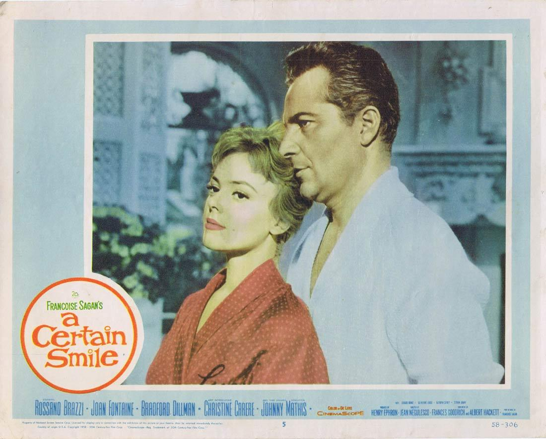 A CERTAIN SMILE Lobby Card 5 Rossano Brazzi Joan Fontaine