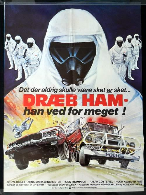 CHAIN REACTION, The '80 Steve Bisley GREAT ART! Nuclear Disaster DANISH Movie poster