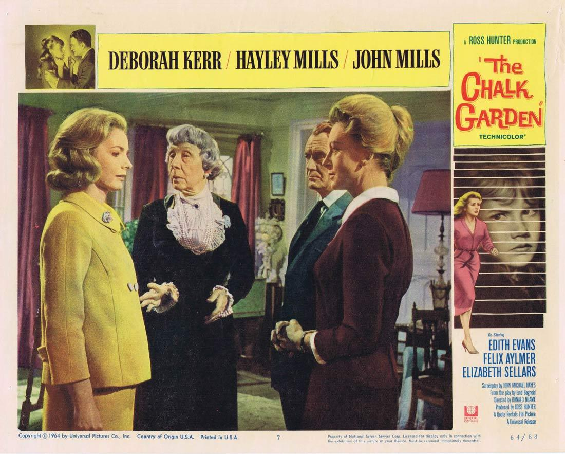 THE CHALK GARDEN Lobby Card 7 Deborah Kerr Hayley Mills
