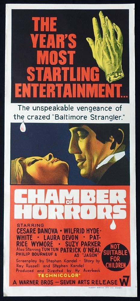 CHAMBER OF HORRORS Original Daybill Movie Poster Patrick O'Neal Cesare Danova