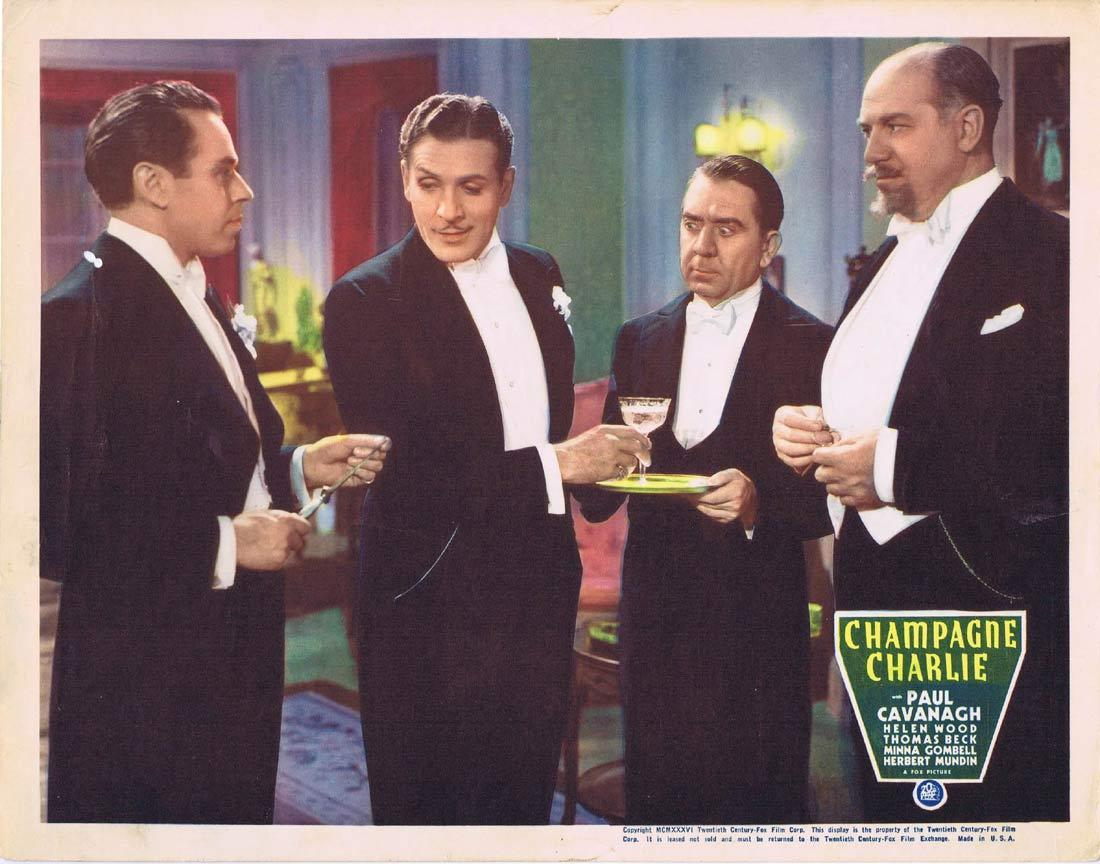 CHAMPAGNE CHARLIE Lobby Card Paul Cavanagh Helen Wood Thomas Beck 1936