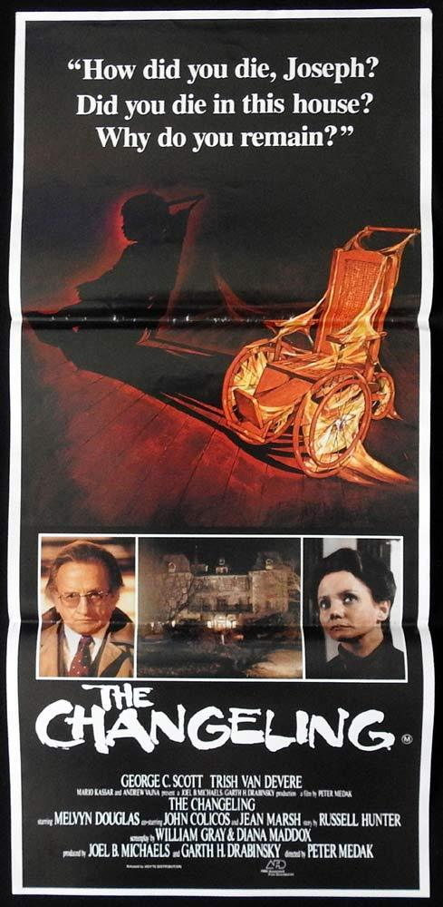 THE CHANGELING Original Daybill Movie Poster George C. Scott Trish Van Devere