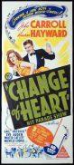 CHANGE OF HEART aka HIT PARADE OF 1943 Original Daybill Movie Poster Susan Hayward