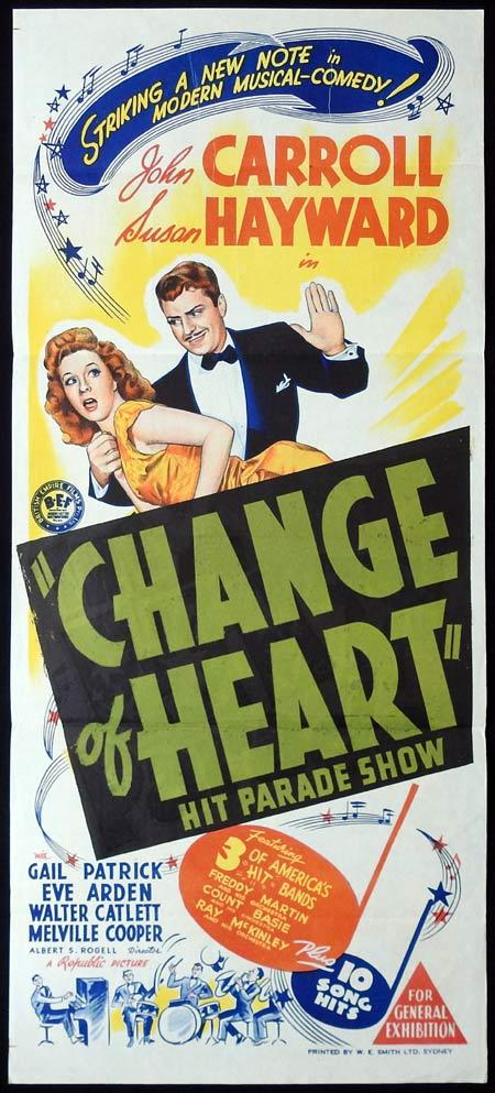 CHANGE OF HEART aka HIT PARADE OF 1943 Original Daybill Movie Poster Susan Hayward