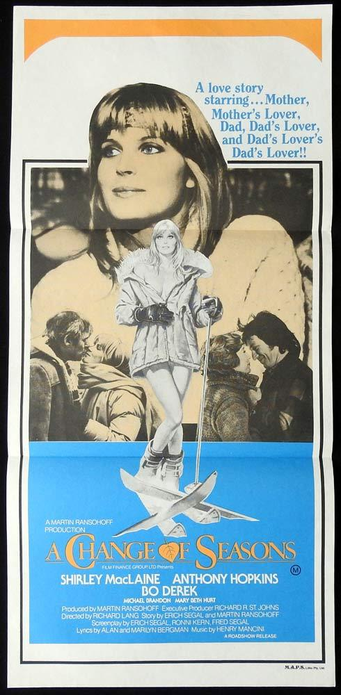 CHANGE OF SEASONS Original Daybill Movie Poster 1980 Bo Derek Anthony Hopkins