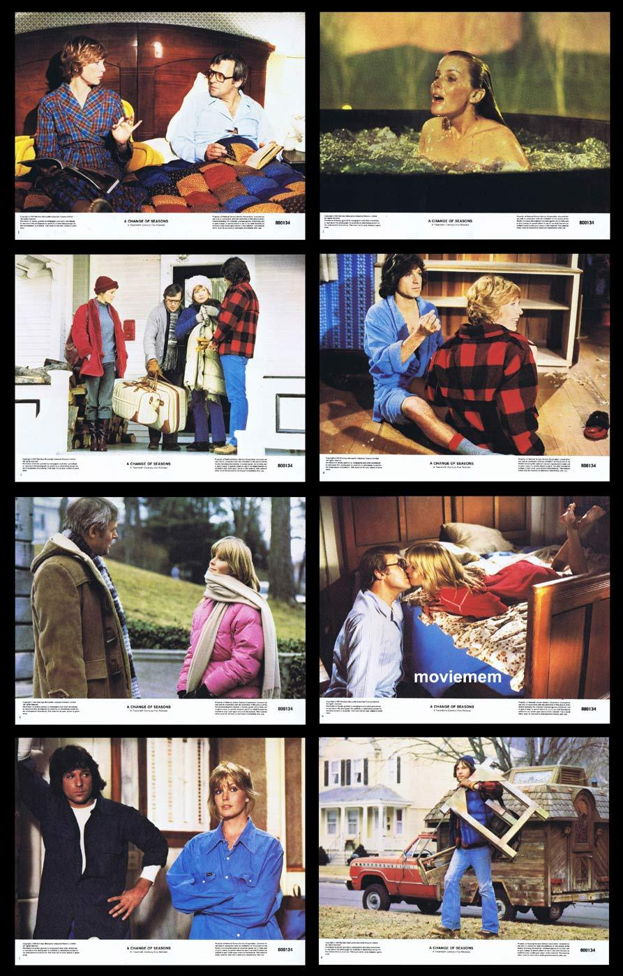 A CHANGE OF SEASONS Lobby Card set Shirley MacLaine Anthony Hopkins