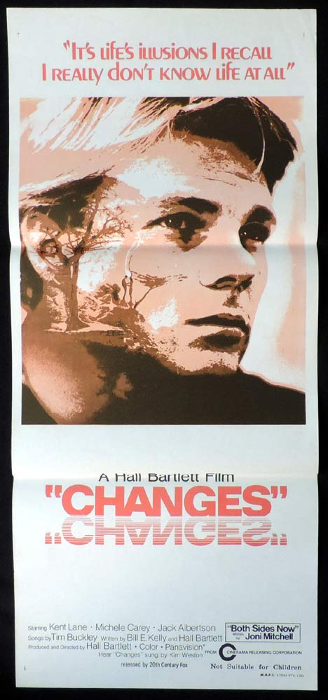 CHANGES Original Daybill Movie Poster Kent Lane Joni Mitchell