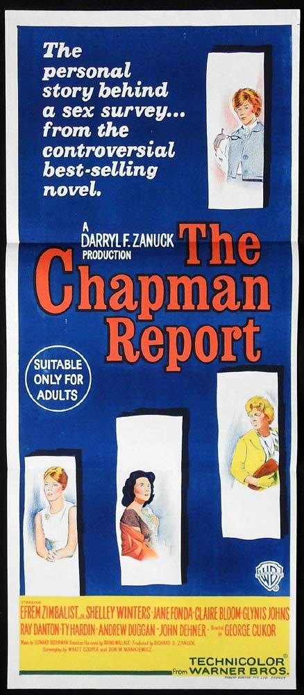 THE CHAPMAN REPORT Original Daybill Movie Poster Shelley Winters Jane Fonda