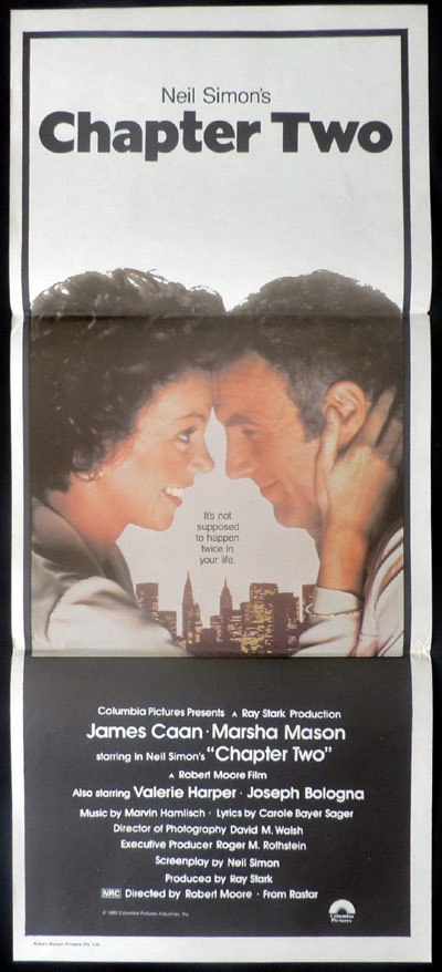 CHAPTER TWO Neil Simon Original Daybill Movie poster Howard E.Rollins Jnr Norman Jewison
