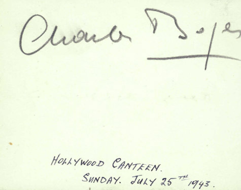 CHARLES BOYER Autographed Album Page