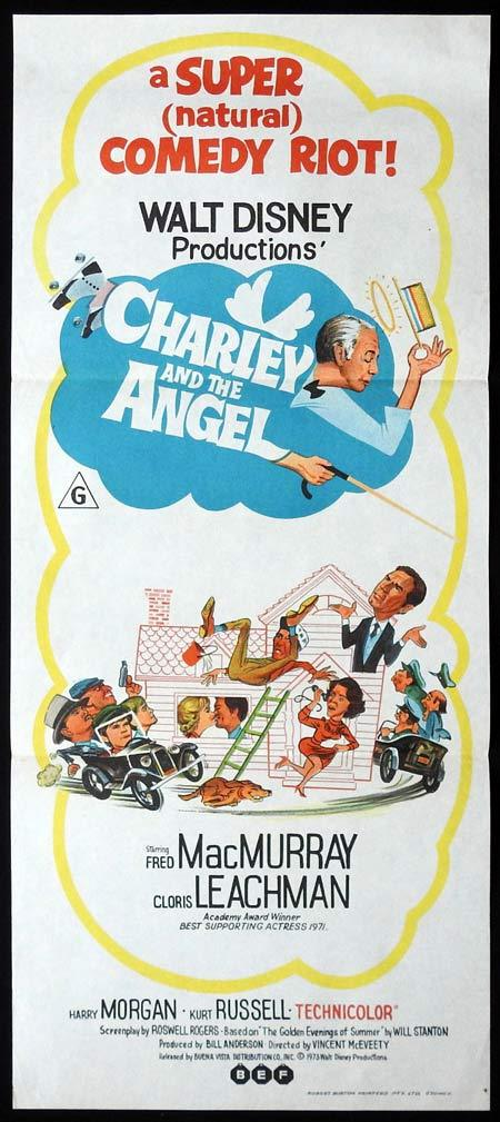 CHARLEY AND THE ANGEL Rare Original Daybill Movie Poster Maurice Chevalier