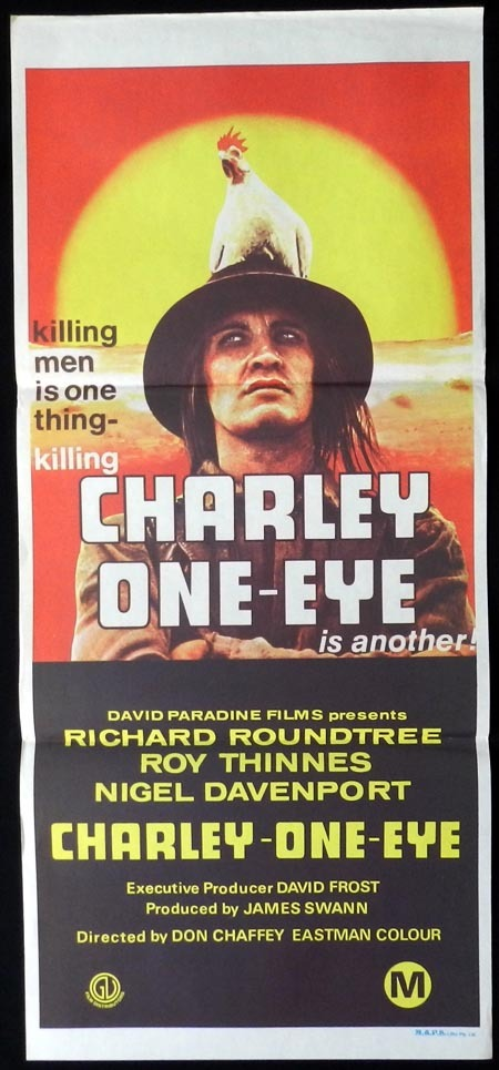CHARLEY ONE EYE Original Daybill Movie Poster Richard Roundtree