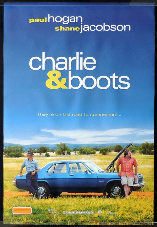 CHARLIE AND BOOTS Movie poster 2009 Paul Hogan Advance One Sheet