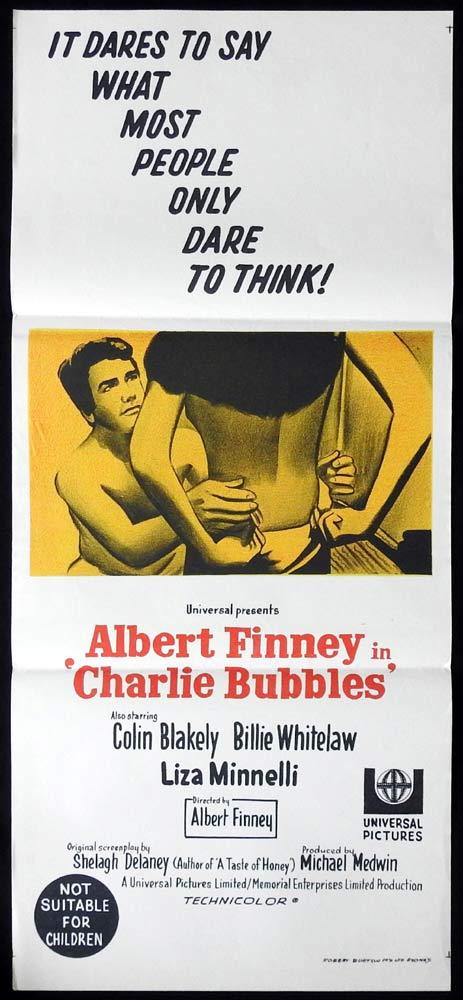 CHARLIE BUBBLES Original Daybill Movie Poster Albert Finney