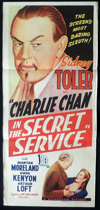 CHARLIE CHAN IN THE SECRET SERVICE 1944 Charlie Chan Daybill Movie poster