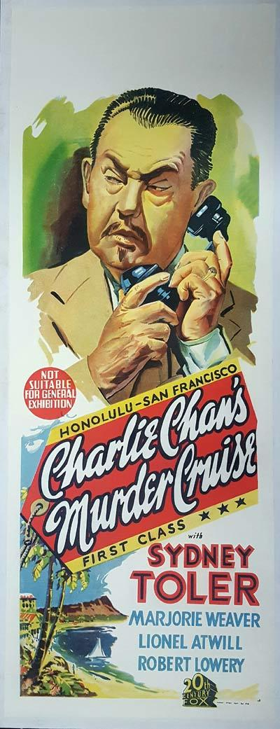 CHARLIE CHAN'S MURDER CRUISE Long Daybill Movie poster Sidney Toler Victor Sen Yung