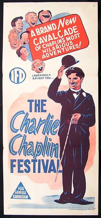 THE CHARLIE CHAPLIN FESTIVAL Movie Poster 1950s Rare Australian daybill
