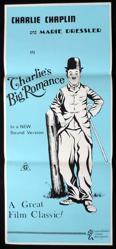 CHARLIES BIG ROMANCE Original Daybill Movie Poster Charlie Chaplin Marie Dressler 1970sr