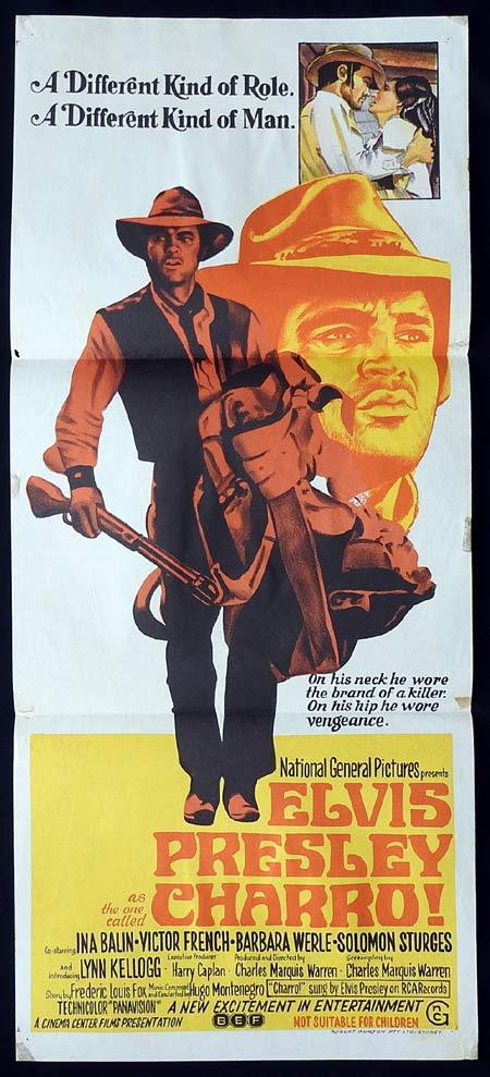 CHARRO Original Daybill Movie poster ELVIS PRESLEY