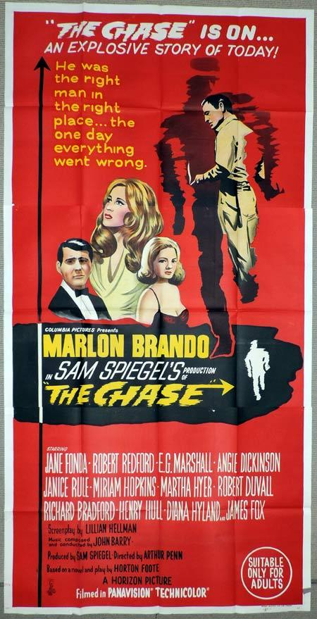 THE CHASE Original 3 Sheet Movie Poster Marlon Brando