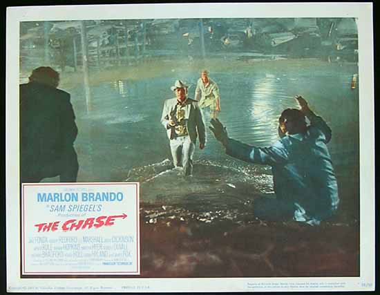 THE CHASE 1966 Marlon Brando Jane Fonda Lobby card 5