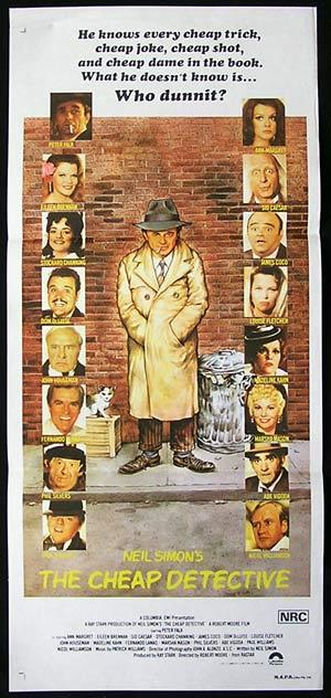 THE CHEAP DETECTIVE Daybill Movie Poster Peter Falk