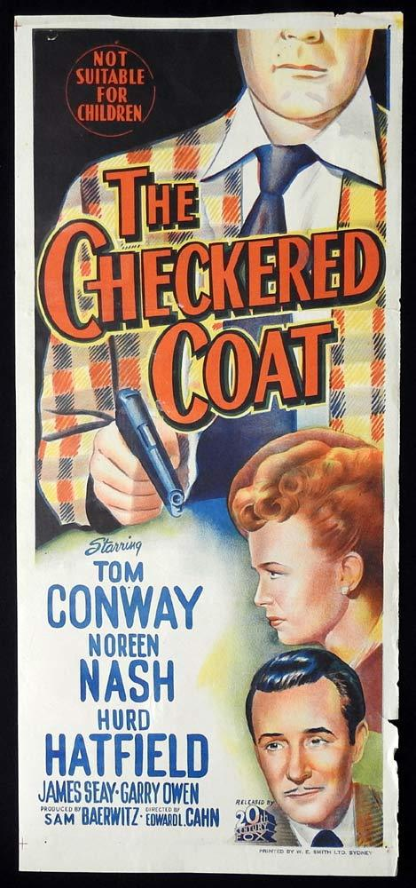 THE CHECKERED COAT Original Daybill Movie poster Tom Conway Noreen Nash
