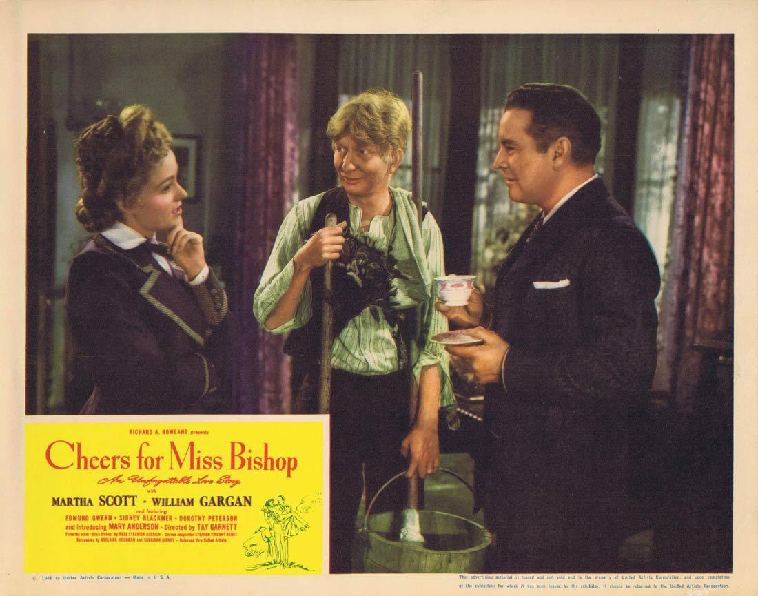 CHEERS FOR MISS BISHOP Lobby Card 2 Martha Scott William Gargan Edmund Gwenn