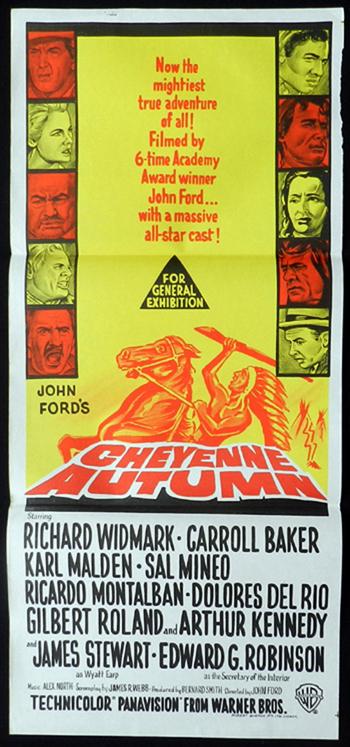 CHEYENNE AUTUMN John Ford RARE Daybill Movie poster