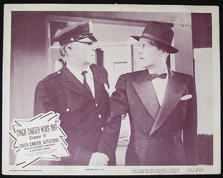 CHICK CARTER WINS OUT '46 Columbia Serial ORIGINAL US Lobby card