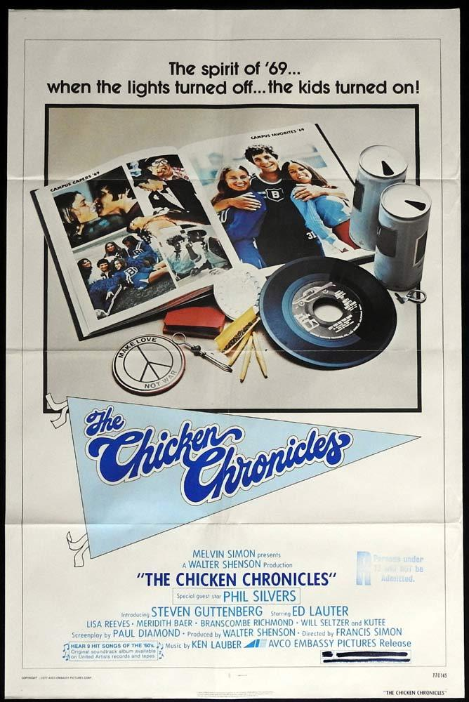 THE CHICKEN CHRONICLES Original Daybill movie poster Phil Silvers Ed Lauter