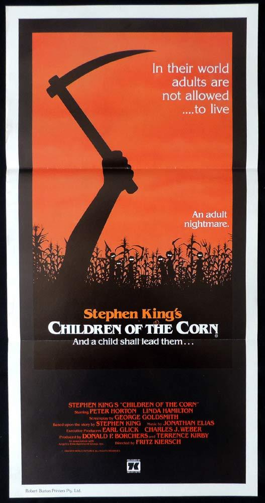 CHILDREN OF THE CORN Original Daybill Movie Poster Linda Hamilton Stephen King