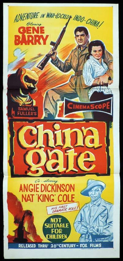 CHINA GATE Original Daybill Movie Poster Gene Barry Sam Fuller