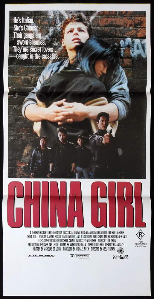 CHINA GIRL Original Daybill Movie poster JAMES RUSSO David Caruso