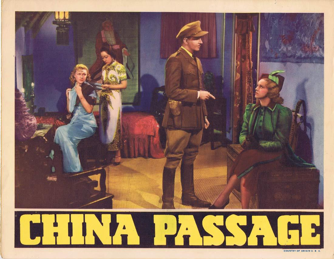 CHINA PASSAGE Original Lobby Card 4 Constance Worth Vinton Haworth Leslie Fenton 1937