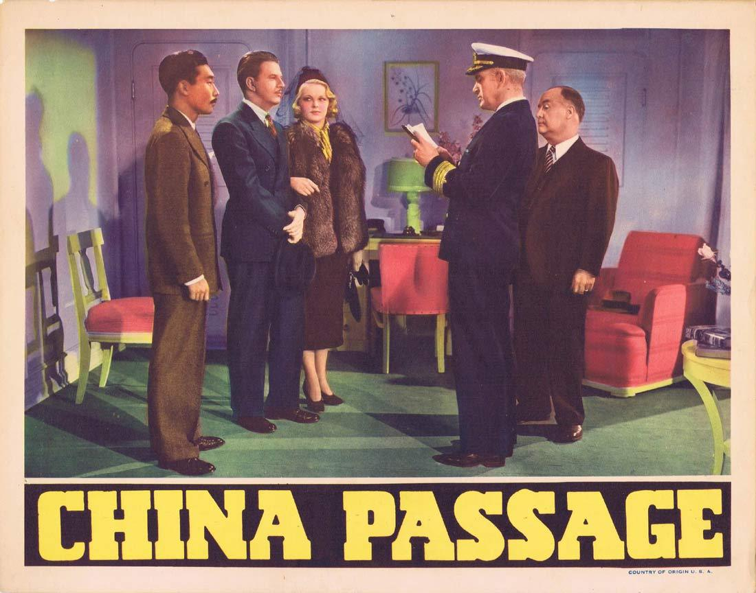 CHINA PASSAGE Original Lobby Card 5 Constance Worth Vinton Haworth Leslie Fenton 1937