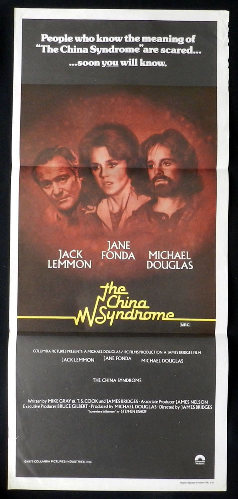 THE CHINA SYNDROMEDaybill Movie poster Jack Lemmon Jane Fonda