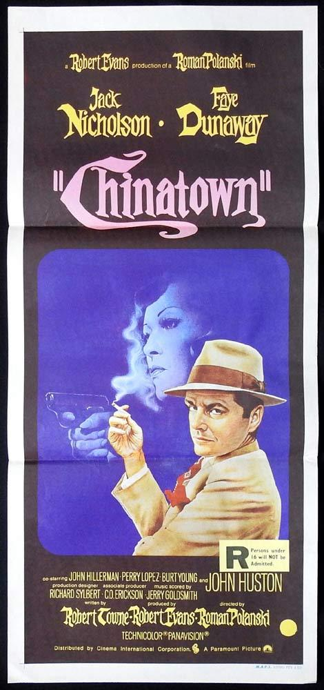 CHINATOWN Original Daybill Movie Poster Jack Nicholson Faye Dunaway