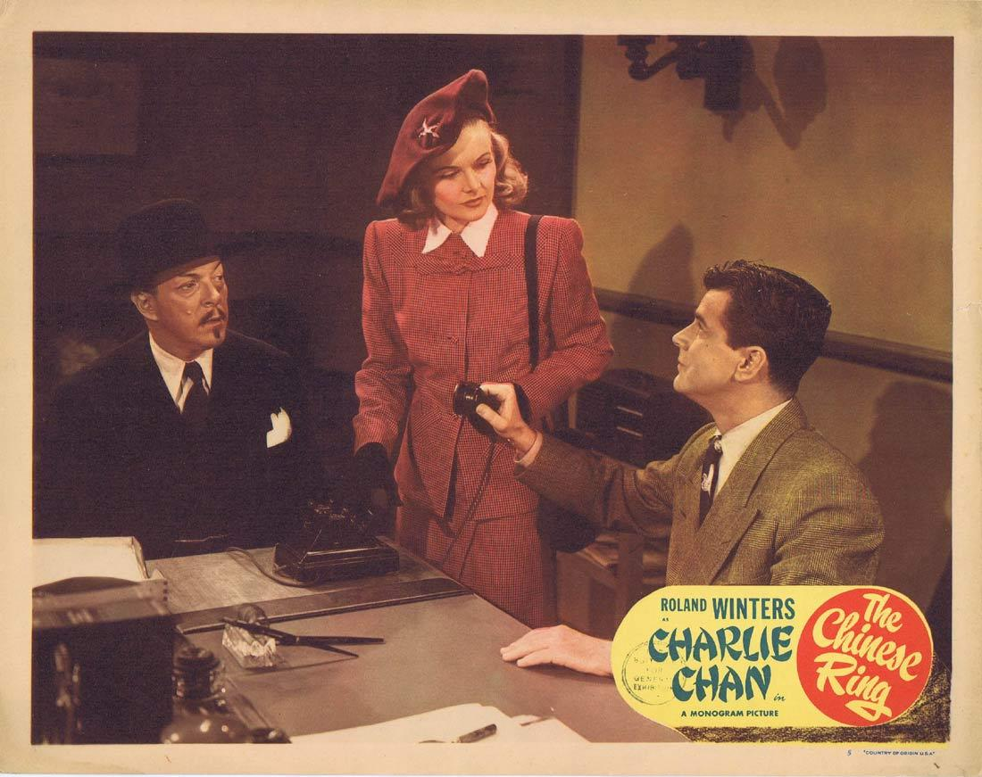THE CHINESE RING Lobby Card 5 CHARLIE CHAN Roland Winters Louise Currie