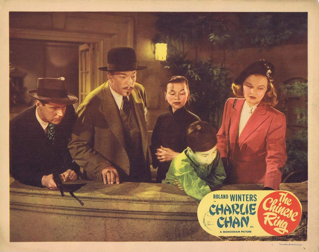 THE CHINESE RING Lobby Card 7 CHARLIE CHAN Roland Winters Louise Currie