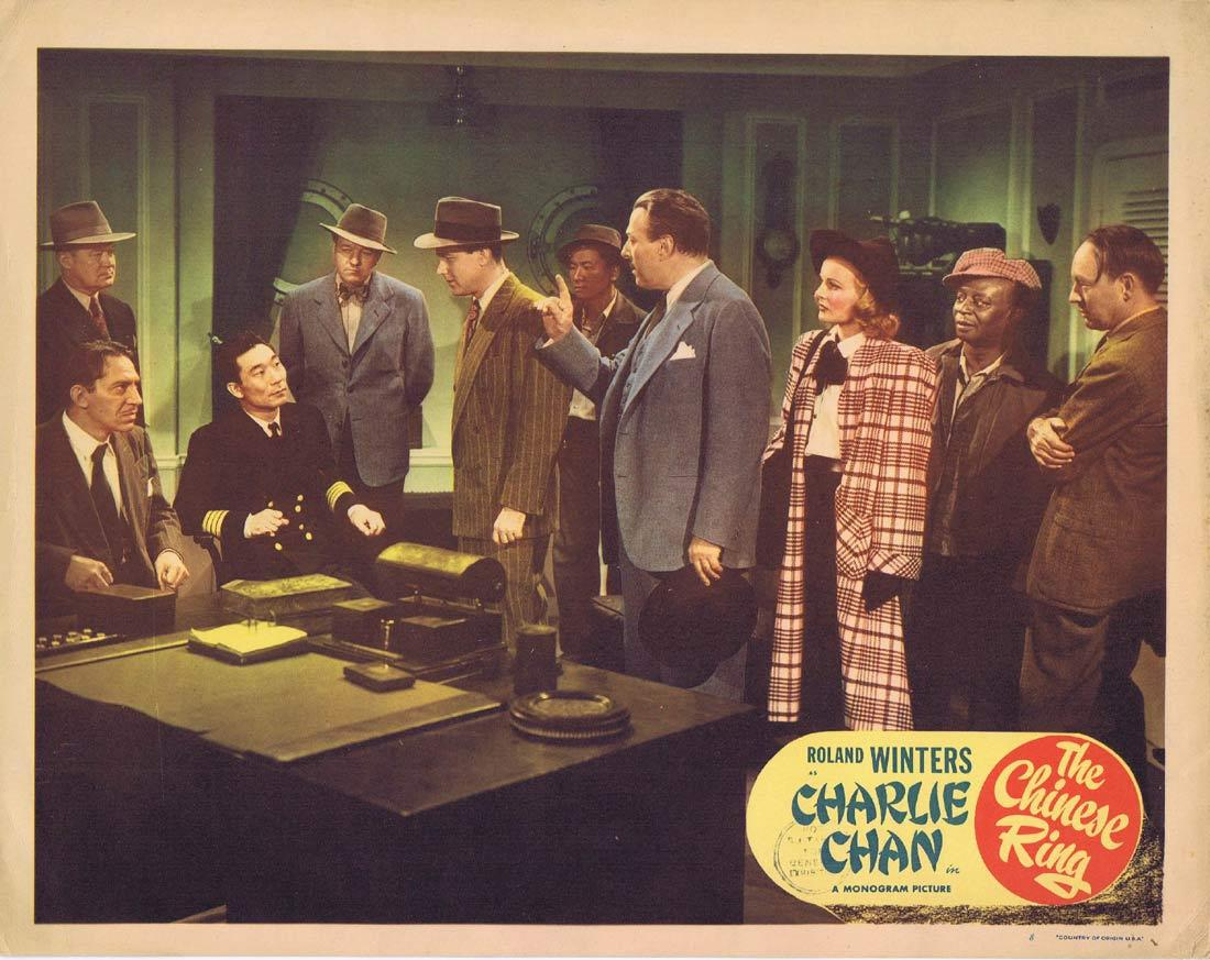 THE CHINESE RING Lobby Card 8 CHARLIE CHAN Roland Winters Louise Currie