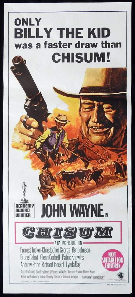 CHISUM Original Daybill Movie Poster John Wayne Forrest Tucker