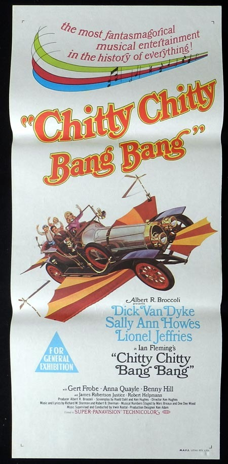 CHITTY CHITTY BANG BANG Original Daybill Movie Poster Dick Van Dyke