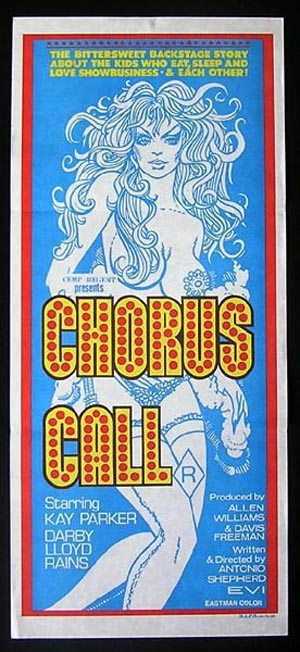 CHROUS CALL '78-Darby Lloyd Rains-SEXPLOITATION daybill