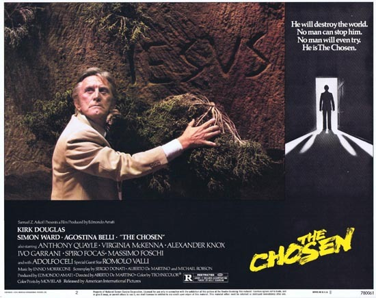 THE CHOSEN 1978 Lobby Card 2 Kirk Douglas Horror